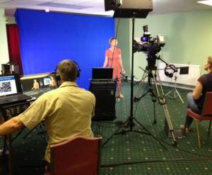 film production on set